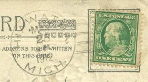 Hiawatha, Michigan-Actual Post Mark (May 23, 1912)