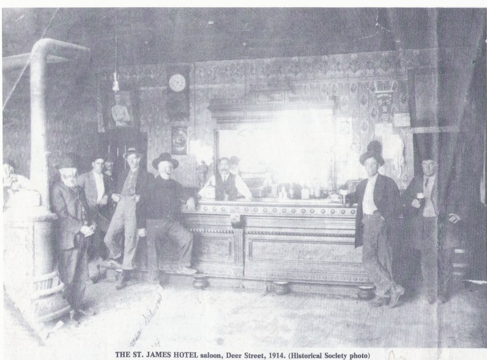 Pictured Here Is The Old St James Hotel Saloon Located On Deer Street