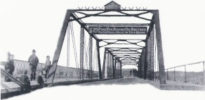 """The """"Iron Bridge' remained in use until 1919."""