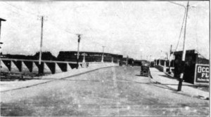 View of the newly completed bridge 1920.