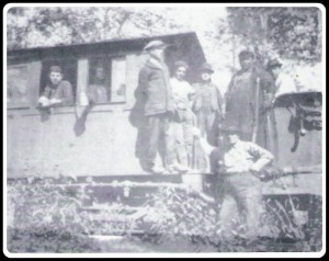 Thompson, MI -Passengers in-route to Big Springs by railroad.