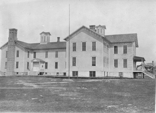 The Central School building was erected in 1882 with an initial enrollment of 76 students. It was replaced by the new Junior High building in 1931