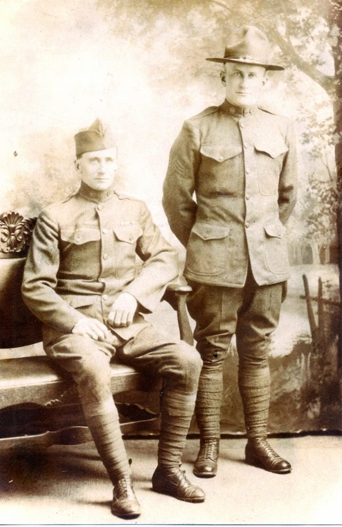 World War I veterans Scott Creighton (left ) and Alex Creighton (right)